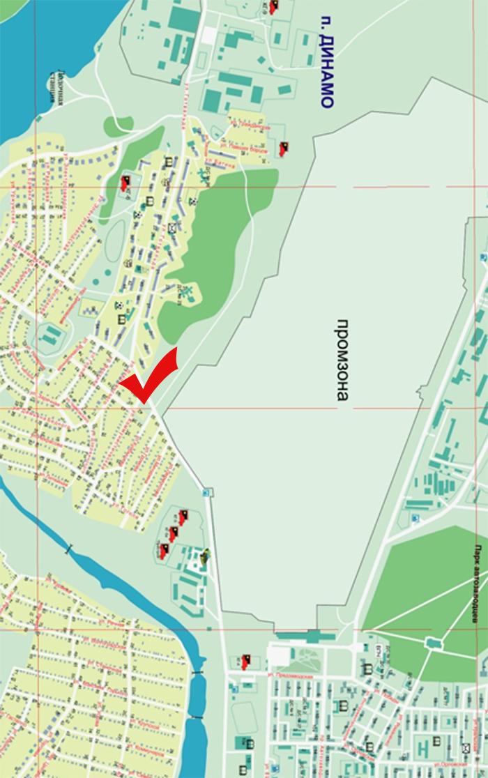 Схема проезда: Динамовское